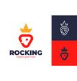 king rocket logo simple rocket and crown vector image vector image