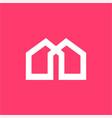 m mu ma mw am home property company logo vector image vector image