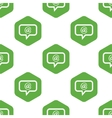 Mail message pattern vector image vector image