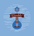 mandolin jazz instrument musical festival vector image