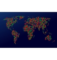 Map of the earth communication vector image