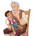 mister geppetto and pinocchio vector image