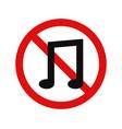 no music vector image vector image