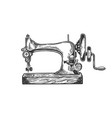 old sewing machine engraving vector image vector image
