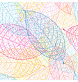 outline autumn pattern leaves vector image vector image