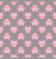 owl stylized art seemless pattern pink gray colors vector image vector image