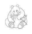 panda and bamboo leaves coloring book vector image vector image