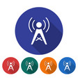 round icon radio repeater flat style with long vector image