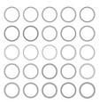 set decorative circular frames vector image