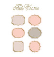 set of victorian hand made frames vector image