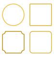 set rope frame flat design vector image