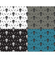 skull and bones deadly fun simple seamless pattern vector image vector image