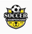 soccer logo sports emblem vector image vector image