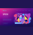 speech therapy concept landing page vector image vector image