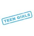 Teen Girls Rubber Stamp vector image vector image