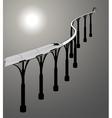 train on bridge dynamic composition vector image