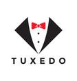 tuxedo logo design inspiration vector image vector image