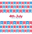 usa independence day fourth july national flag vector image