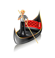 Venice gondola isolated vector image vector image