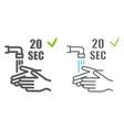 washing your hands 20 seconds color line icons vector image vector image