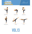 Yoga poses for balancing poses and standing poses