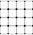 Black and white dotted squares simple seamless vector image
