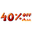 A big discounted sale vector image