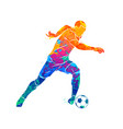 abstract soccer player running with the ball from vector image vector image