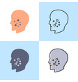 acne icon set in flat and line style vector image vector image