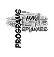 adware free removal scan spyware text word cloud vector image vector image