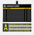 airport board vector image