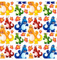 angry dinosaur seamless pattern vector image vector image