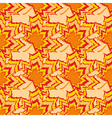 Autumn seamless pattern with orange leaf vector image vector image