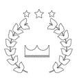 award crown wreath laurel honor sport vector image vector image