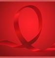 awareness red ribbon vector image