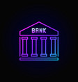 bank colorful line icon vector image vector image
