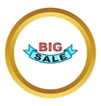 Big sale design icon vector image vector image