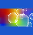 bubbles on colorful background vector image