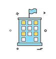 building icon design vector image vector image