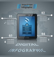 business infographic digital tablet icon vector image vector image