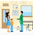 Child Doctor Pediatrician vector image