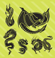 Chinese dragon silhouettes tattoo mythology tail