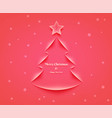 christmas card in vector image