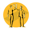 collegues people giving high five vector image