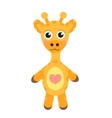 Cute cartoon character giraffe Baby toy giraffe vector image vector image