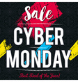 Cyber Monday sale banner on black background
