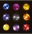 disco balls discotheque dance music party vector image vector image