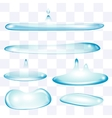 Flatten water drops set vector image