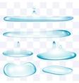 Flatten water drops set vector image vector image