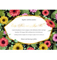 floral watercolor background multicolored vector image vector image